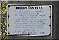 TA3910 : Heligoland Trap, Spurn Point - notice by George Robinson