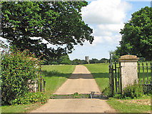 TM3996 : Entrance to Raveningham Hall by Evelyn Simak