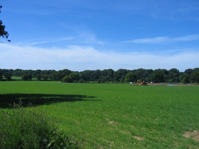 Towards Oak Wood from Morgan's Field Barn
