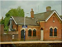 SK3281 : Dore and Totley station, Sheffield by Steve  Fareham