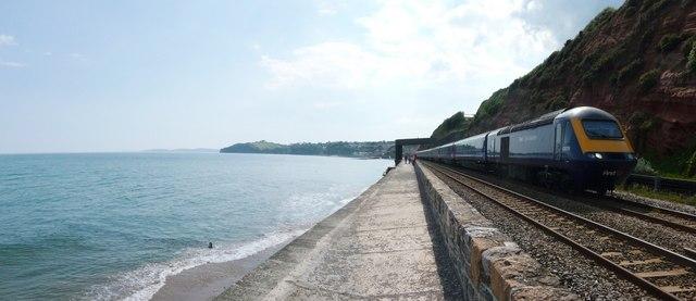 Dawlish : Coastal Path, Railway & First Great Western Train