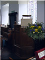 TM1659 : Pulpit of St Catherine's Church, Pettaugh by Adrian Cable