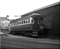 SC4384 : Laxey Goods Shed siding by Dr Neil Clifton