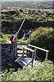 NF7928 : Bridge-cum-stile by Anne Burgess