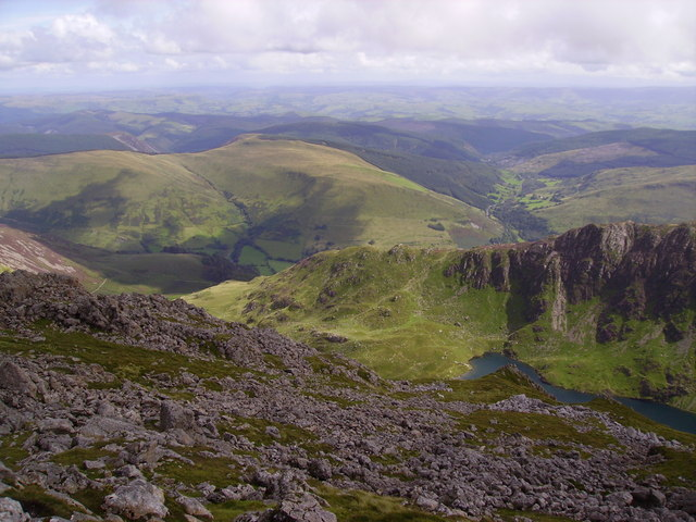 Looking south-east from near the summit of Cadair Idris