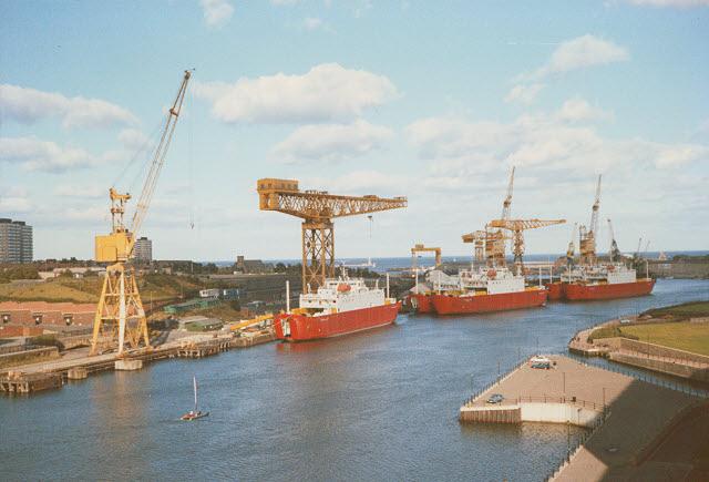 Ships on the River Wear at Sunderland