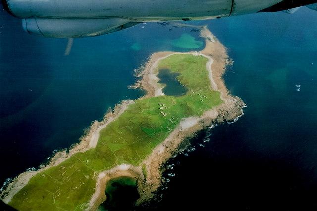 Inishsirrer - NW half of the island looking northwest