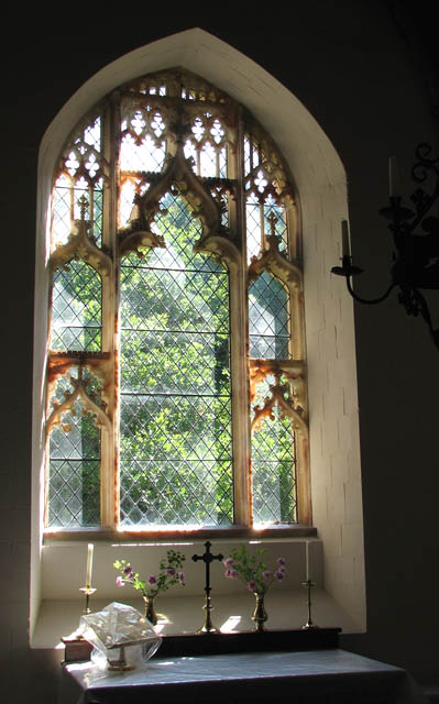 The church of St Remigius - east window
