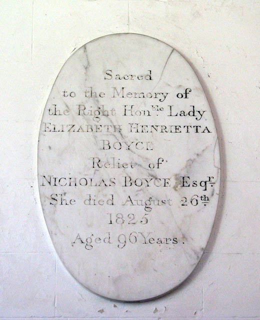 The church of St Remigius - C19 memorial tablet