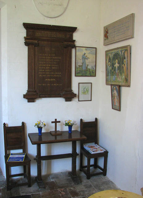 The church of St Remigius - the war memorial