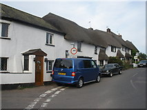 SX9896 : Thatched cottages, Dog Village by Roger Cornfoot