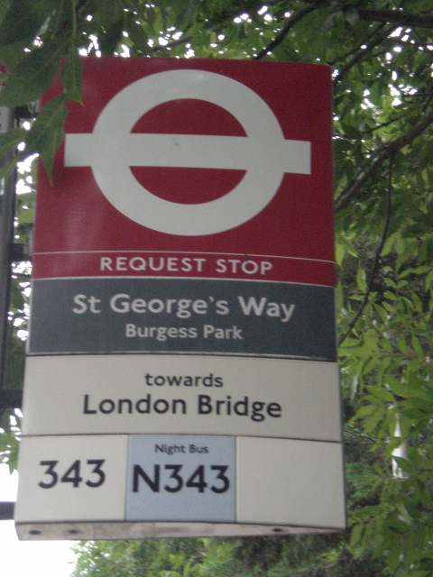 St George's Way Request Stop, Wells Way SE5