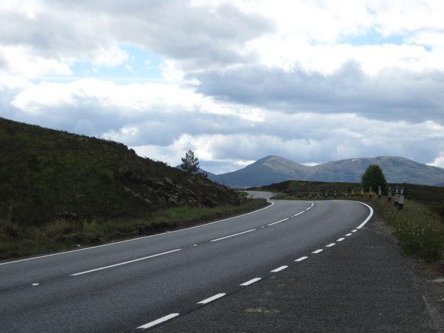 The A87 above Loch Loyne