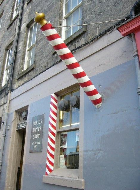 Barber's pole, Drummond Street
