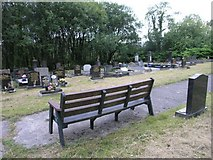 SN7710 : Cemetery above Cwmtwrch by Hywel Williams