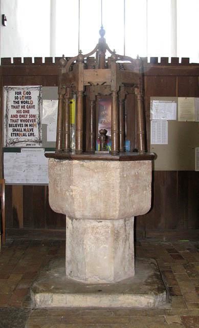 St Mary's church - C14 baptismal font