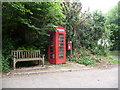 SY4592 : Watton: postbox № DT6 63 and phone by Chris Downer