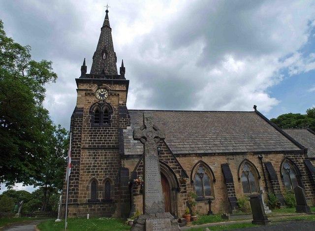 War memorial and St. Paul's Church Brierley