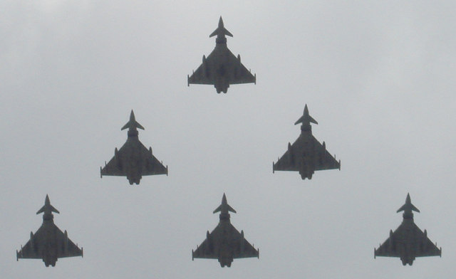 Eurofighter flypast