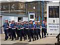 TQ7569 : Marching through Chatham Dockyard by Oast House Archive
