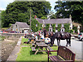 SN0406 : Quay and beer garden at Cresswell Quay by John Duckfield