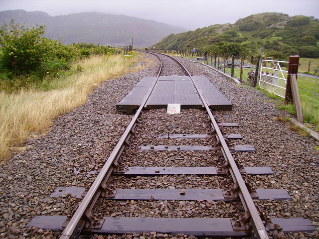 Looking north from Morfa Mawddach station