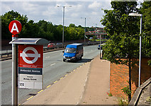 TQ2589 : Amberden Avenue Bus Stop by Martin Addison