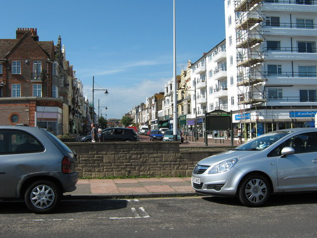Devonshire Road seen from the sea front