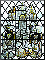 TM2893 : St Andrew's church - medieval glass by Evelyn Simak