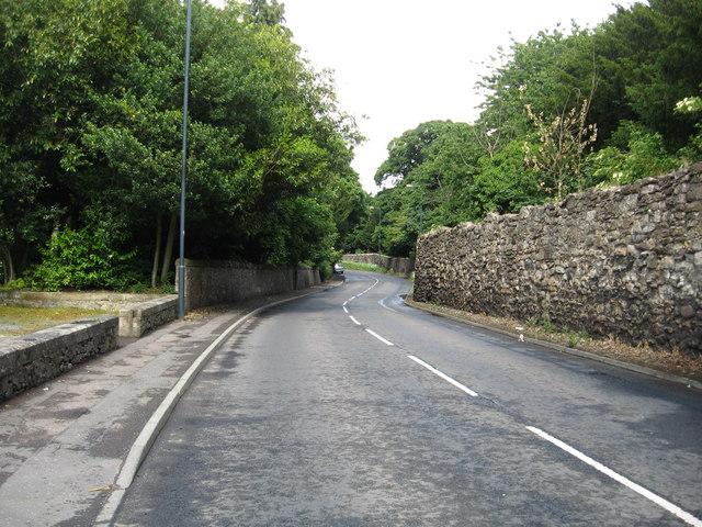 Newbattle Road heading for Eskbank