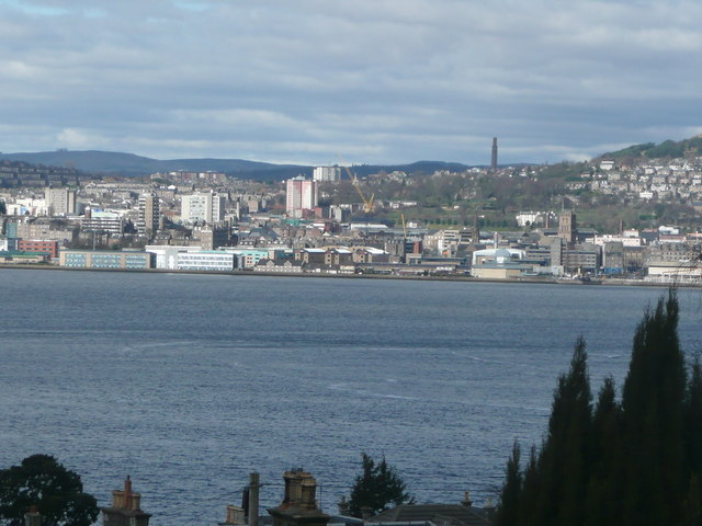 Dundee waterfront from Newport