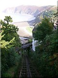 SS7249 : Cliff Railway between Lynton and Lynmouth by Rick Sykes
