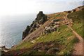 SW6951 : Coastal Footpath and Carn Gowla by Helen Wilkinson