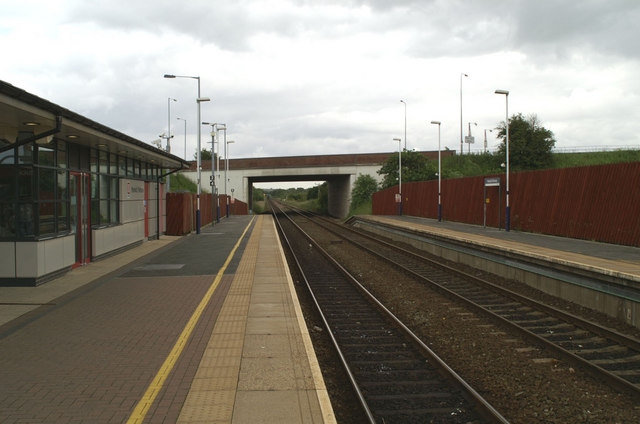 Horwich Parkway Station, view south towards Bolton and Manchester