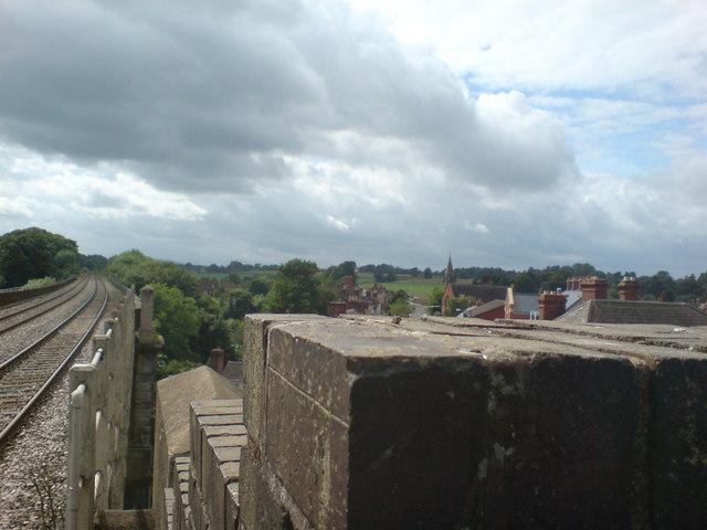 View from Shifnal railway bridge