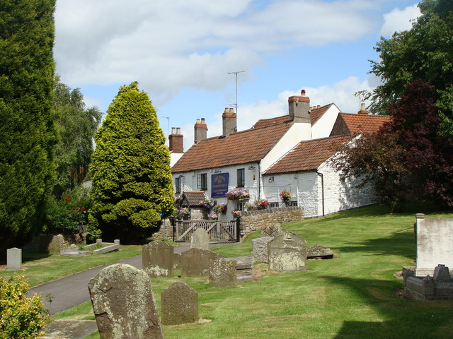 The Bowl Inn from the churchyard