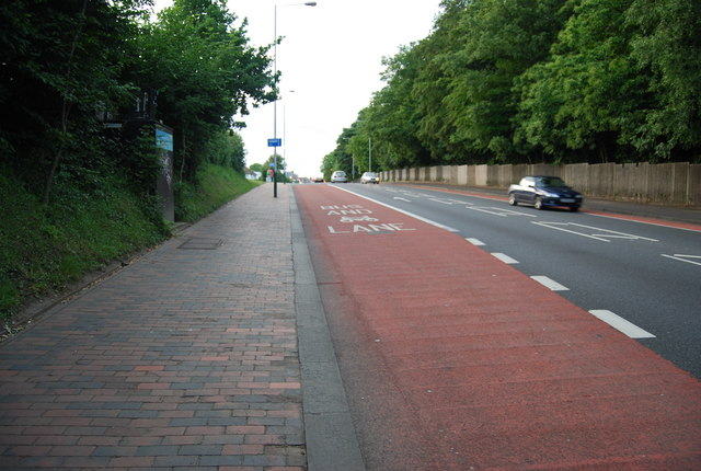 Bus & Cycle Lane, St John's Rd by N Chadwick