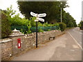 SZ0078 : Langton Matravers: postbox № BH19 96, Coombe Hill by Chris Downer