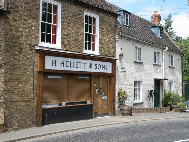 Butchers shop on London Road, Kimbolton