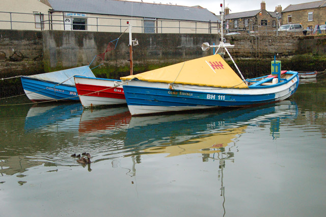 Cobles in the harbour, Amble (2)
