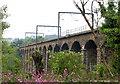 NU2212 : Railway viaduct near Lesbury by Andy F