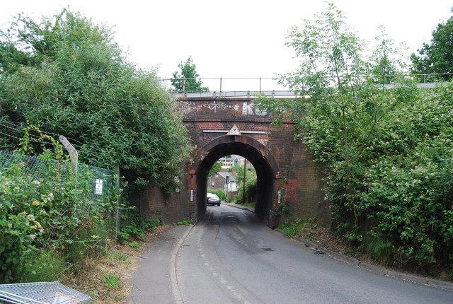North Farm Rd railway bridge by N Chadwick