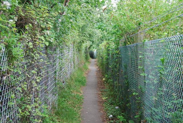 Footpath alongside the railway line (2) by N Chadwick