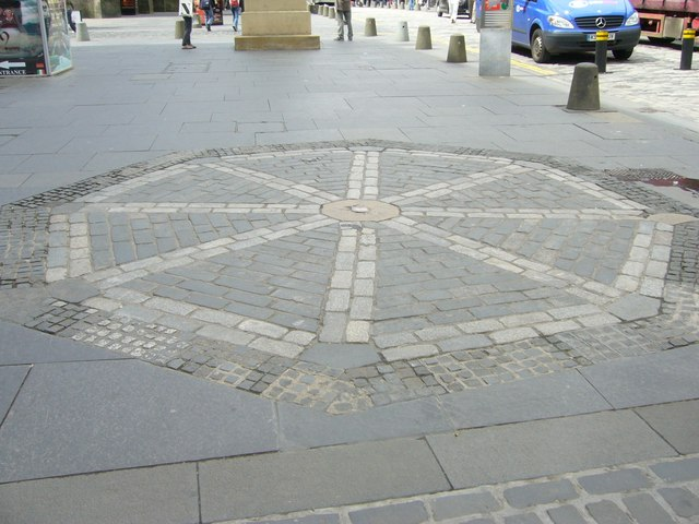 Earlier site of the Mercat Cross, High Street