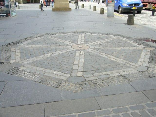 Earlier site of the Mercat Cross, High Street