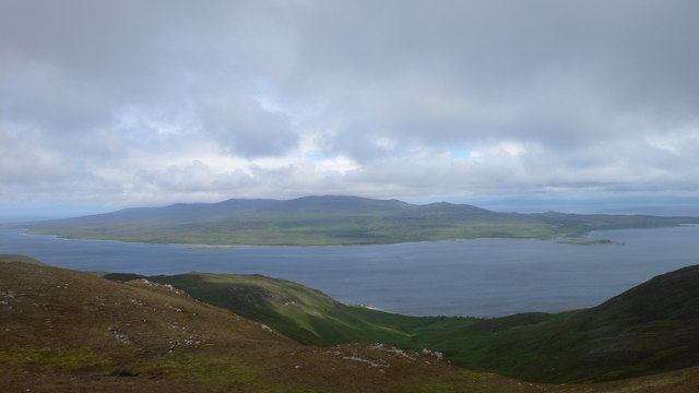 Looking across the Sound of Islay from the ridge of Sgorr nam Faoileann