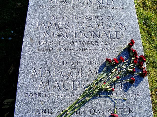 Inscription for J Ramsay MacDonald