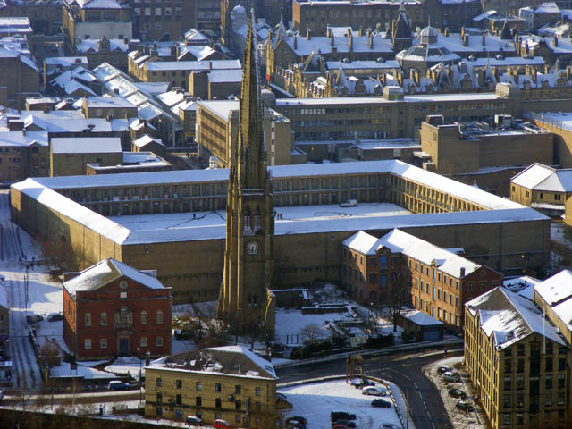 The Piece Hall and Square Chapel from Beacon Hill