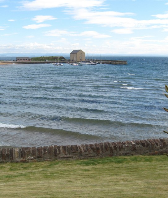 Looking over the bay to  Elie Harbour and the harbour house