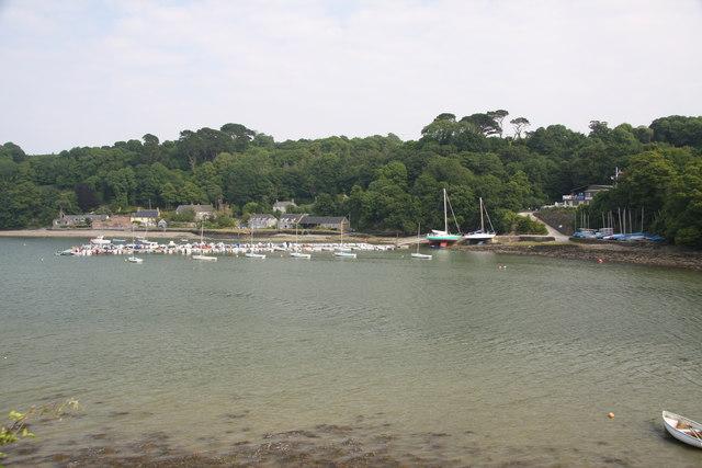 Dinghy Pontoon and Quay at Helford River Sailing Club